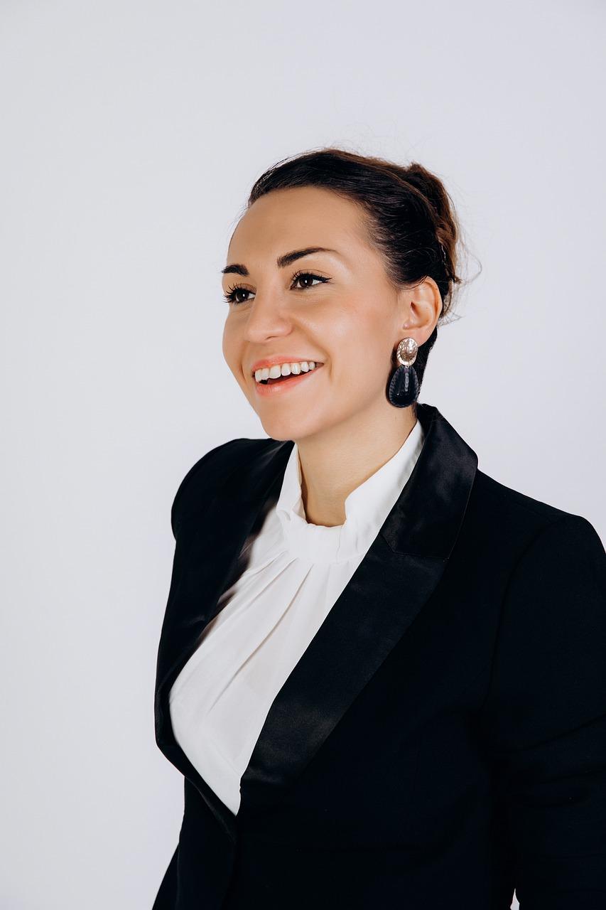 woman, professional, smile